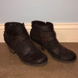 Brown Zip Up Boots